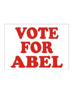 Vote For Abel Sticker