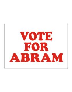Vote For Abram Sticker
