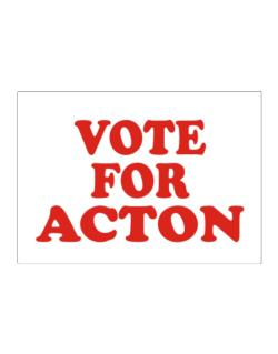 Vote For Acton Sticker