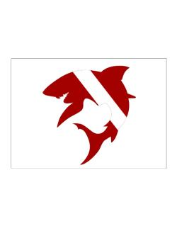 Diver down Shark Scuba Diving Sticker