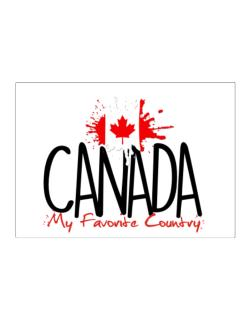 Canada my favorite country Sticker