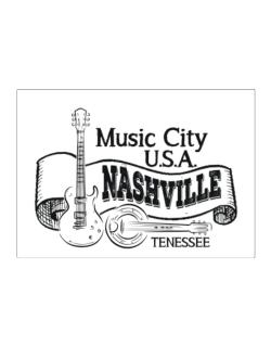 Music city Usa Nashville Tennessee Sticker