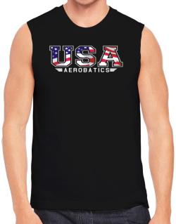 Usa Aerobatics / Flag Clip - Army Sleeveless