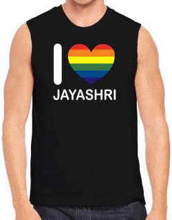 I Love Jayashri - Rainbow Heart Sleeveless