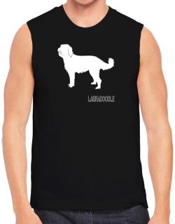 Labradoodle Stencil / Chees Sleeveless