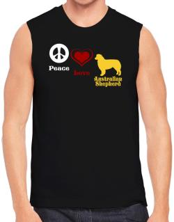Peace, Love, Australian Shepherd Sleeveless