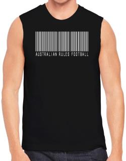 Australian Rules Football Barcode / Bar Code Sleeveless