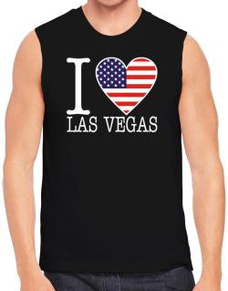 """ I love Las Vegas - American Flag "" Sleeveless"