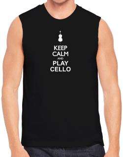 Polo Sin Mangas de Keep calm and play Cello - silhouette