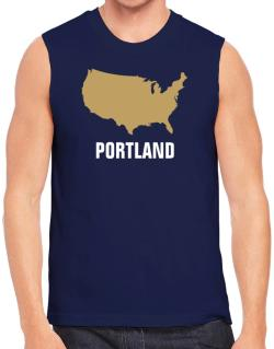 Portland - Usa Map Sleeveless