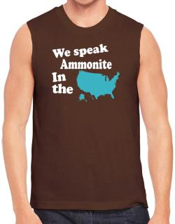 Ammonite Is Spoken In The Us - Map Sleeveless