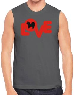 Love Silhouette American Eskimo Dog Sleeveless