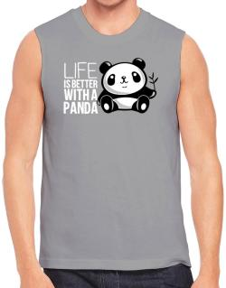 Life is better with a panda Sleeveless