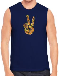 Peace Sign - Hand Collage Sleeveless