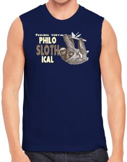 Polo Sin Mangas de Philosophical Sloth