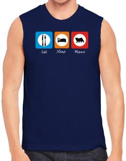 Eat sleep Manx Sleeveless