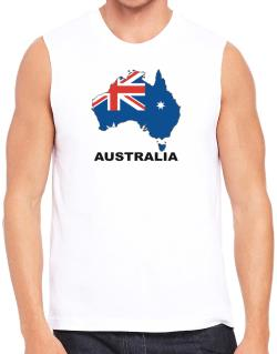 Australia - Country Map Color Sleeveless