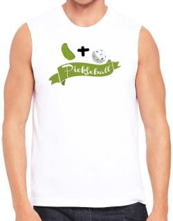 Pickle plus ball equals pickleball Sleeveless