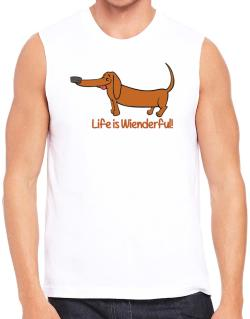 Dachshund life is Wienderful!  Sleeveless