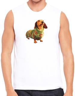 Polo Sin Mangas de Dachshund christmas sweater