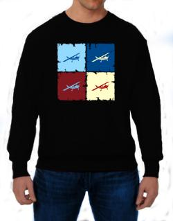""" Aerobatics - Pop art "" Sweatshirt"