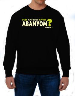 Does Anybody Know Abanyom? Please... Sweatshirt