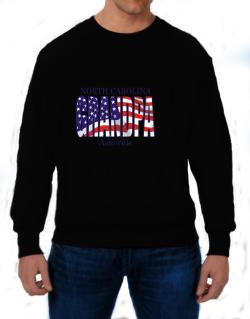Grandpa Asheville - Us Flag Sweatshirt