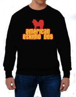 Breed Color American Eskimo Dog Sweatshirt