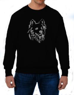 """ Australian Cattle Dog FACE SPECIAL GRAPHIC "" Sweatshirt"