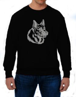""" Belgian Malinois FACE SPECIAL GRAPHIC "" Sweatshirt"