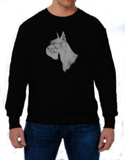 """ Schnauzer FACE SPECIAL GRAPHIC "" Sweatshirt"