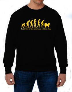 Evolution Of The American Eskimo Dog Sweatshirt
