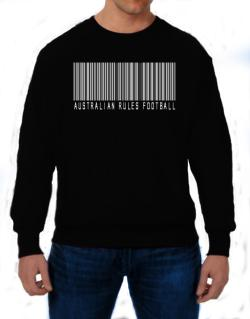 Australian Rules Football Barcode / Bar Code Sweatshirt