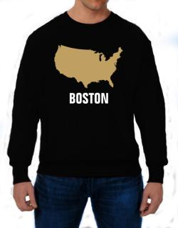 Boston - Usa Map Sweatshirt