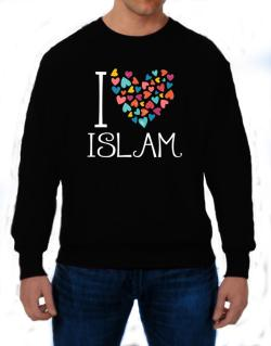 I love Islam colorful hearts Sweatshirt