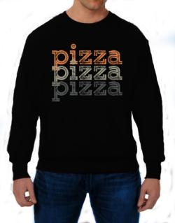 Pizza repeat retro Sweatshirt