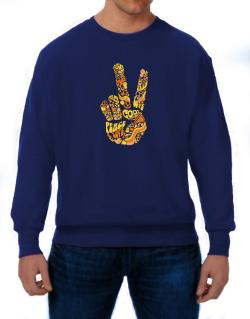 Peace Sign - Hand Collage Sweatshirt