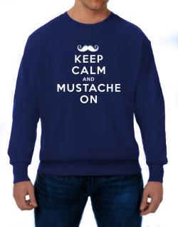 Mustache on Sweatshirt