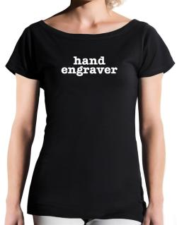Hand Engraver T-Shirt - Boat-Neck-Womens
