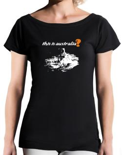 This Is Australia? - Astronaut T-Shirt - Boat-Neck-Womens