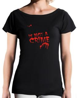 Being A ... Red Wolf Is Not A Crime T-Shirt - Boat-Neck-Womens