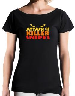 Attack Of The Killer Snipes T-Shirt - Boat-Neck-Womens