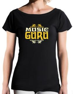 Music Guru T-Shirt - Boat-Neck-Womens