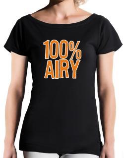 100% Airy T-Shirt - Boat-Neck-Womens