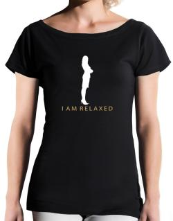 I Am Relaxed - Female T-Shirt - Boat-Neck-Womens