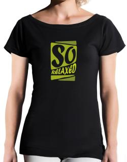 So Relaxed T-Shirt - Boat-Neck-Womens