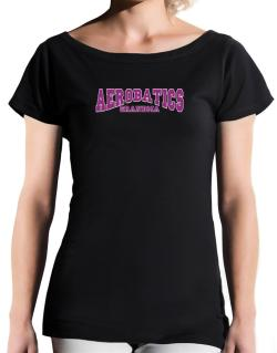 Aerobatics Grandma T-Shirt - Boat-Neck-Womens