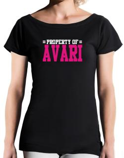 Property Of Avari T-Shirt - Boat-Neck-Womens