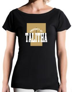 Property Of Talitha T-Shirt - Boat-Neck-Womens