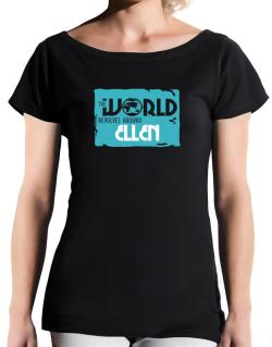 The World Revolves Around Ellen T-Shirt - Boat-Neck-Womens
